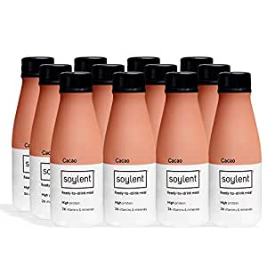 Soylent Meal Replacement Drink, Cacao 414 mL Bottles, 12 Pack