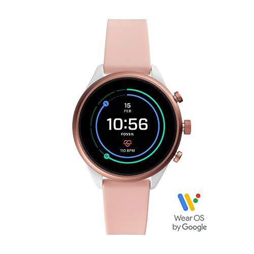 Fossil Damen-Smartwatch mit Silikon Armband FTW6022 (Fossil Damen-armbanduhr)