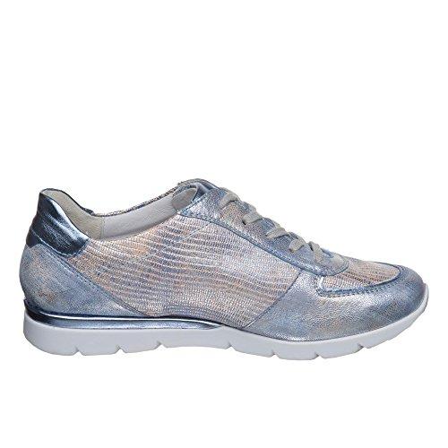 Semler Damen Nelly Sneakers Blau Metallic