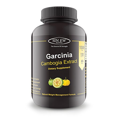 Sinew Nutrition Garcinia Cambogia Extract -(120 Capsules) 1500 mg, 100 % Veg, Pure & Natural Weight Management & Appetite Suppressant Supplement