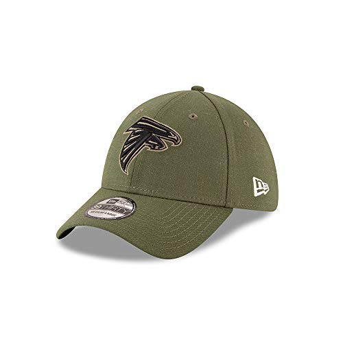 New Era Atlanta Falcons 39thirty Stretch Cap On Field 2018 Salute to Service Green - S-M -