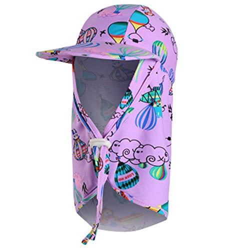 GUOSH Kinder Erwachsene Badekappe Outdoor Beach Visor Big Hat Winddicht Sanddicht Sonnenschutzkappe Stil 17