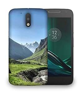Snoogg Green Garden Pathway Designer Protective Phone Back Case Cover For Motorola Moto G4