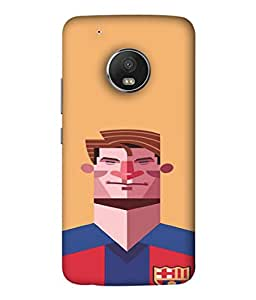PrintVisa I Love Football 3D Hard Polycarbonate Designer Back Case Cover for Motorola Moto G5 Plus