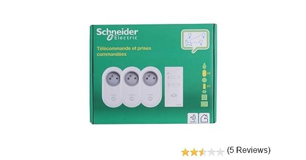 Télécommande avec 3 prises commandées Schneider CCTSA94010
