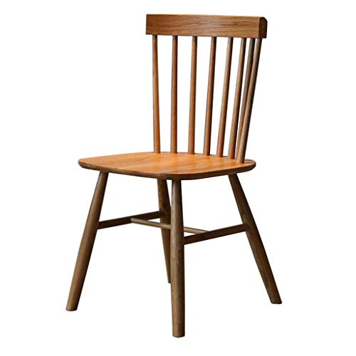 Holzstuhl Kaffee Stuhl, WeißE Eiche Stuhl, Home Massivholz Esszimmerstuhl - Geeignet FüR Zuhause, Essen, Cafe, Freizeit Bar, Bar