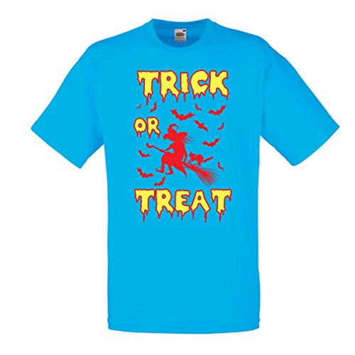 k or Treat - Halloween Witch - Party outfites - Scary Costume (Medium Blau Mehrfarben) ()