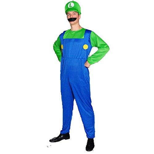 Luigi Style Gents Fancy Dress Costume XXL