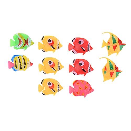 10 Stück Künstlich Schwimmende Fisch Aquarium Deko Ornament Dekoration für Aquarium Fish Tank