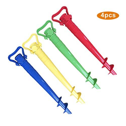 Dupeakya Umbrella Ground Spike Verstellbarer Schirmständerhalter aus Kunststoff in Mehreren Farben mit Einem Griff für den Patio-Ständer Garden Beach -