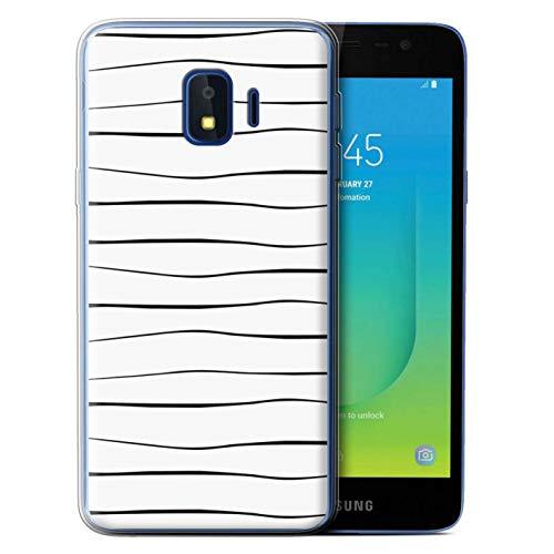 eSwish Gel TPU Hülle/Case für Samsung Galaxy J2 Core/J260 / Schlanke Reben Muster/Skandinavische Mode Kollektion -