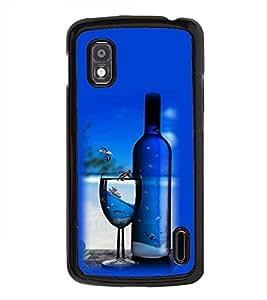 Vizagbeats Wine Bottle Glass Back Case Cover for HTC DESIRE 826