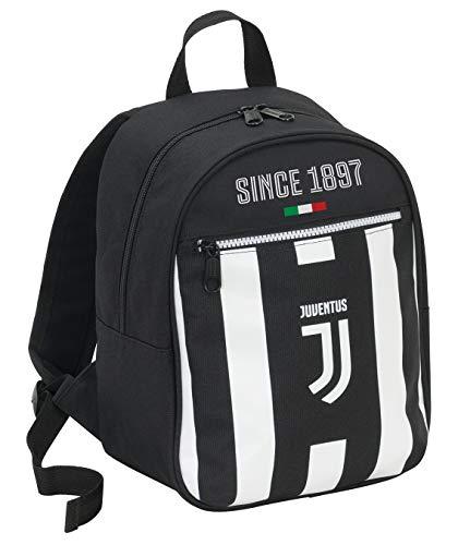 Seven Zaino Small Juventus Coaches, 10 Lt, 32 cm, Bianco & Nero, Scuola Materna & Tempo Libero
