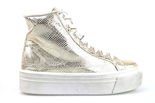 scarpe donna MADAME PIGALLE 37 EU sneakers tessuto platino AM784