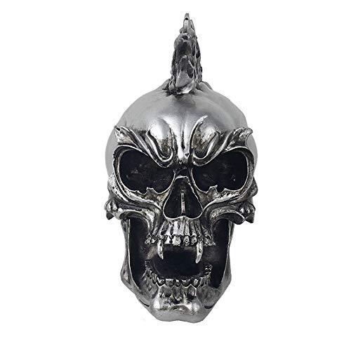 keit Dekor Punk Schädel Skulptur, Rock Tätowierung Bar Lokomotive Halloween Prop Dekoration-A ()