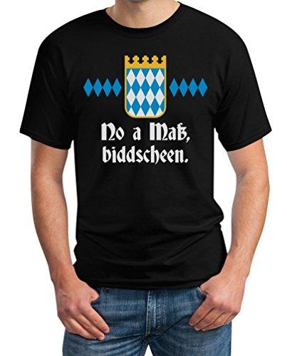 Oktoberfest Wiesn Outfit Herren Shirt - No A Mass Biddscheen! T-Shirt X-Large Schwarz