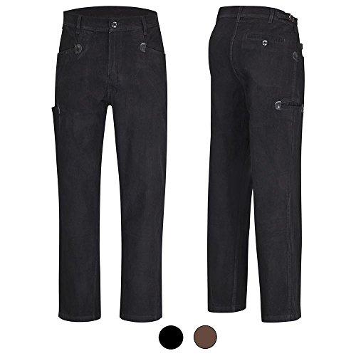Preisvergleich Produktbild DESERMO® Cord-Arbeitshose Bundhose aus 100% Genua-Cord BW320 - schwarz Gr. 28