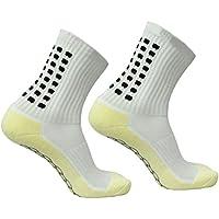 WINOMO Männer Sport Anti-Rutsch-Fußball-Socken Fußball-Short-Strümpfe (weiß)