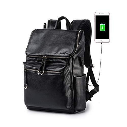 66e49ce0e5 ZJX168 Casual Zaino USB Uomo Scuola Sportivi e Outdoor Pelle Business  Zainetto Borse Porta pc 15