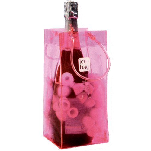 Ice Bag - Seau a Glace rafraichisseur Ice Bag - Sac Porte Bouteille pliable - Rose