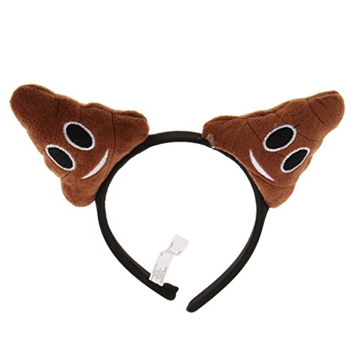 Hellery Brown Emoticon Poop Stirnband Party Kostüm Poo Head Haarband Haarschmuck