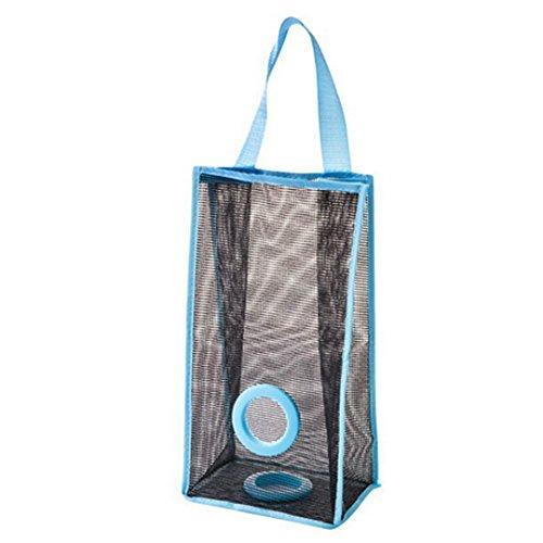 Dispensador de bolsas AiSi, plegable y para colgar, de tela de malla de PVC, para guardar, organizar y bolsas reciclables de basura, calcetines y guantes