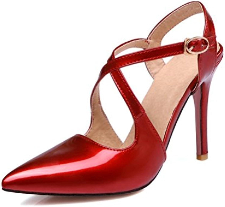 XUEXZIX Sandali con Tacco Alto da da da Donna Cinghie Incrociate Dopo la Fibbia Scarpe da Donna, 46 | Clienti In Primo Luogo  f886e9