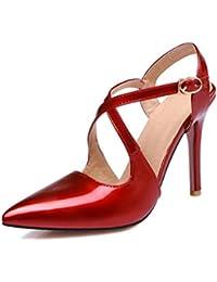 QPYC Damen Flache Ferse Baotou Flip Flop Strass Brief AS Satin Quadrat Kopf Flip Flop Sommer Sexy Damen Schuhe , black , 38