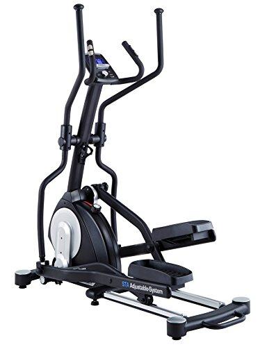 MAXXUS® CROSSTRAINER CX 7.4, Ellipsentrainer mit 5-fach Schrittlängenverstellung! Flache, elliptische Bewegung wie beim Laufen. Elektr. gesteuertes Magnetbremssystem, Trainingsprogramme, HRC-Programm, Schienensystem für sanften Lauf. Auf unterschiedliche Körpergrößen einstellbare Schrittlänge.