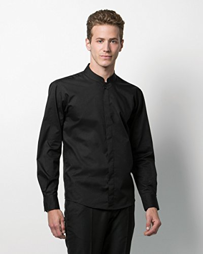 Bargear Bar camisa cuello mao de manga larga - Black