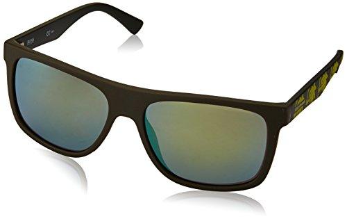 Boss orange 0253/s qu occhiali da sole, verde (grnpttrnyllw/yellow fl), 56 uomo