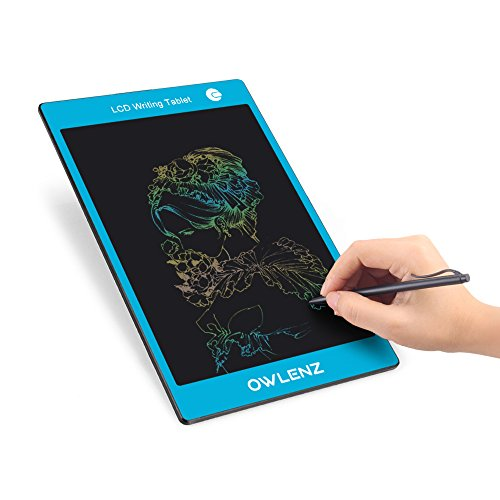 LCD Grafiktabletts Digital Schreibtafel LCD Writing Tablet mit Stift Blau Bunt