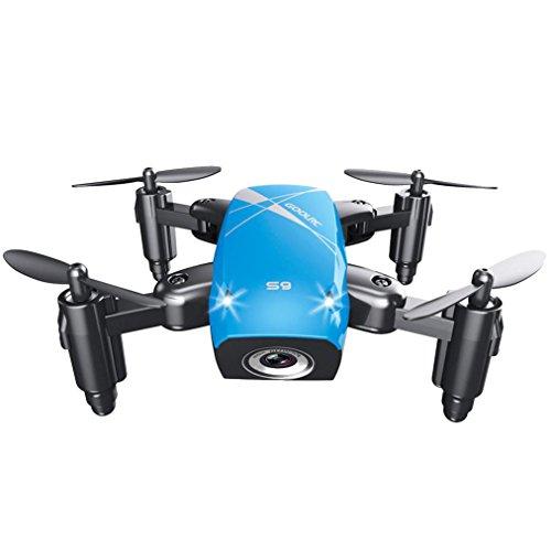 quadcopter kit de Sannysis 2.4G 6 Axis gyro Aviones plegables RC Quadcopter Drone profesional baratos con Control remoto - Movimiento continuo en 3D de 360 grados Helicóptero - Drone de bolsillo (Azul)