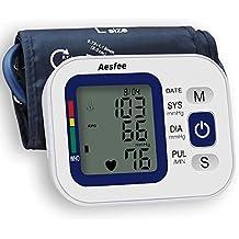 Tensiómetro de Brazo Digital Recargable USB, Monitor Eléctrico de Presión Arterial Medición Automática de la