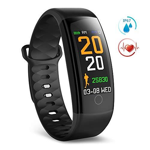 TECKEPIC Aktivitätstracker, Fitness Tracker mit Farbbildschirm, Herzfrequenzmesser, Schlafmonitor, Kalorienzähler