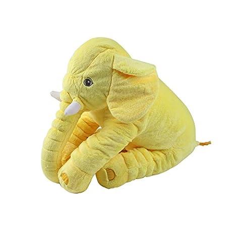 Sleeping Cushdly Comfortable Jouets en peluche pour bébé Elephant Farce en peluche Coussin Coussin Coton Peluche Peluche pour Décoration byUBAOXIN 45 * 25 * 60cm (yellow)