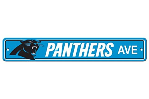 NFL Carolina Panthers Plastic Street Sign