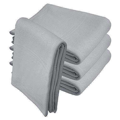 Qool24 Jersey Baumwolle Sofaüberwurf Couch Überwurf Decke Sesselschone Elastisch Grau 150 x 250 cm