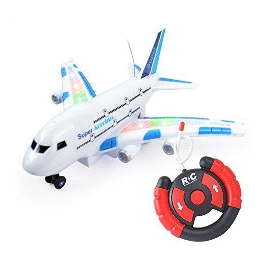er Airbus mit Fernbedienung, mit Blinklichtern, Halloween-Taschen für Kinder ()