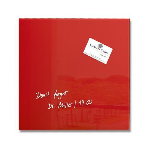 Sigel GL159 Tableau magnétique en verre Artverum 30 x 30 cm - rouge