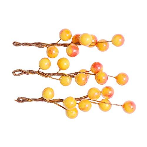 non-brand MagiDeal 3 Pièces Pinces à Cheveux Forme de Fruits Baie Barrettes à Cheveux pour Fille Femmes Accessoires de Coiffure - Orange