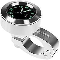 "Neborn Universal a Prueba de Agua 7/8""Manillar de la Motocicleta 22-25 mm Mount Temp termómetro Reloj Moto Watch para Motocicletas Accesorios"