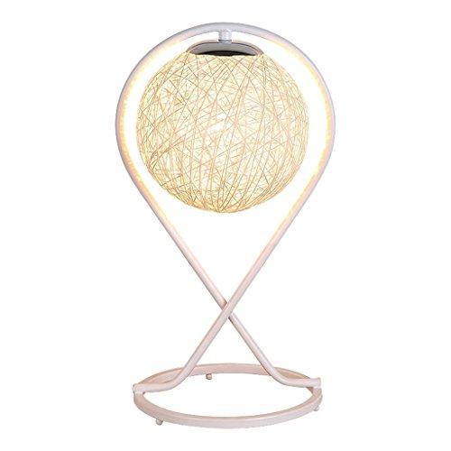 LILY Einfache moderne kreative Rattan Tischlampe - Schlafzimmer Nachttisch Mode Romantische Kunst Wohnzimmer Dekoration Geschenk Tischlampe E27 * 1 (Color : Yellow)