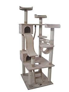 arbre chat benny cr me 198 cm animalerie. Black Bedroom Furniture Sets. Home Design Ideas