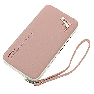Emoonland Ladies Purse Wallet Large Capacity with Hand Wrist Mobile Phone Bag Wallet for iPhone 6s/6s Plus /6/6 Plus/5/5C Samsung Galaxy S6/S6 edge