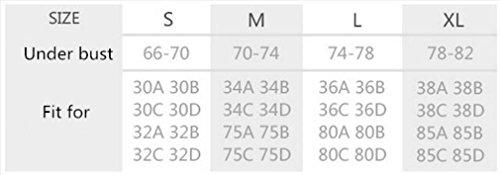 HAPPYMOOD Maglia sportiva femminile da sport ad alta impatto Coppa piena in esecuzione Fitness Padded senza soluzione di continuità Sweat Assorbe Vest per l'esercizio fisico Orange