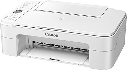 Canon PIXMA TS3151 Farbtintenstrahl-Multifunktionsgerät (Drucken, Scannen, Kopieren, 3,8 cm LCD Anzeige, WLAN, Print App, 4.800 x 1.200 dpi) weiß -