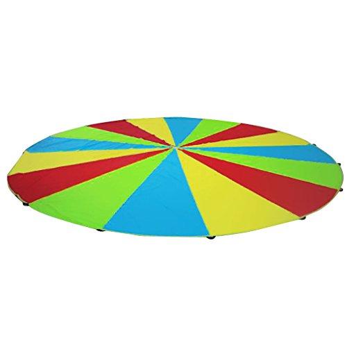 Fenteer Bunt Schwungtuch bunt Fallschirm Parachutes Spielzeug für Schwungtuchspiele - Bunt, 3m