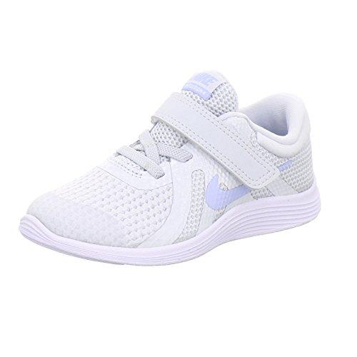 Nike Unisex-Kinder Kleinkinder Sneaker Revolution 4, Grau (Pure Platinum/Royal 005), 23.5 EU (Nike Kleinkinder Mädchen Schuhe)