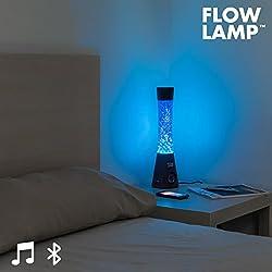 Bitblin Flow Lamp Lámpara de Lava Bluetooth con Altavoz, Azul, 12x12x40 cm